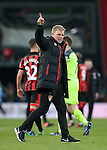 Bournemouth's Eddie Howe celebrates at the final whistle during the Premier League match at the Vitality Stadium, London. Picture date December 4th, 2016 Pic David Klein/Sportimage