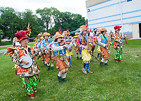 The Uptown String Band performs during St. John the Evangelist's 50th Anniversary picnic celebration Sunday June 14, 2015 in Lower Makefield, Pennsylvania.  (Photo by William Thomas Cain/Cain Images)