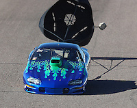 Feb 24, 2017; Chandler, AZ, USA; NHRA top sportsman driver Mike Lucas during qualifying for the Arizona Nationals at Wild Horse Pass Motorsports Park. Mandatory Credit: Mark J. Rebilas-USA TODAY Sports