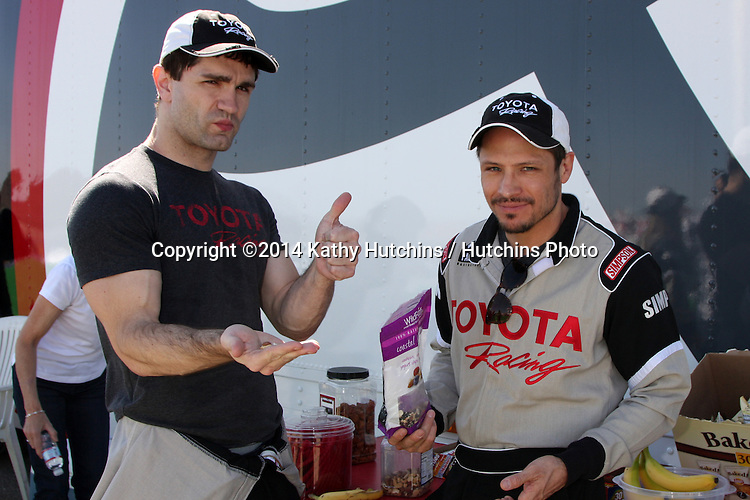 LOS ANGELES - MAR 15:  Sam Witwer, Nick Wechsler at the Toyota Grand Prix of Long Beach Pro-Celebrity Race Training at Willow Springs International Speedway on March 15, 2014 in Rosamond, CA