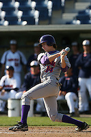 March 6 2009: Trentt Copeland of the Evansville Purple Aces in action against the Pepperdine Waves at Eddy D. Field Stadium in Malibu,CA.  Photo by Larry Goren/Four Seam Images