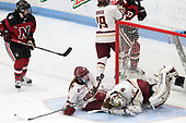 Andrea Renner (NU - 8), Kali Flanagan (BC - 10), Katie Burt (BC - 33) -  The Boston College Eagles defeated the Northeastern University Huskies 2-1 in overtime to win the 2017 Hockey East championship on Sunday, March 5, 2017, at Walter Brown Arena in Boston, Massachusetts.