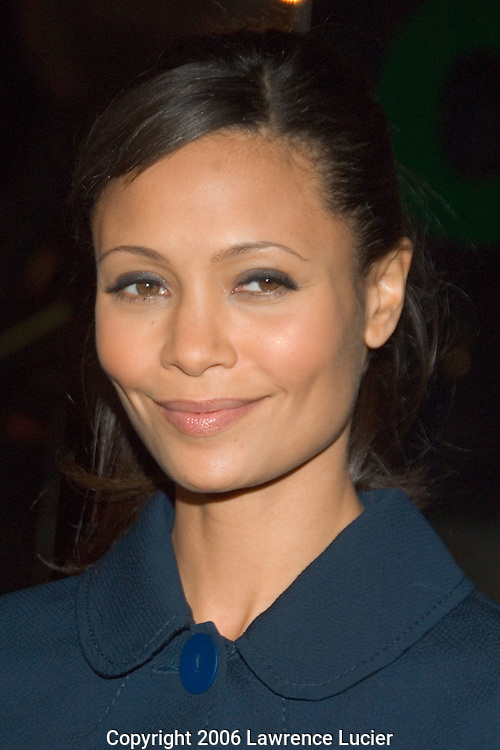 "Actress Thandie Newton arrives at the New York screening of ""The Pursuit of Happyness"" December 2, 2006, at the Beekman Theater in New York City. (Pictured : THANDIE NEWTON)."