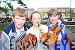 Aodha?n Burns, Siobhain Burns and Ciara O'Shea looking forward to the Kerry Fleadh which will be held in Killarney on the 17-22 June 08   Copyright Kerry's Eye 2008