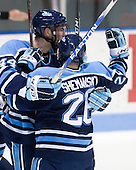 Ryan Hegarty (Maine - 44), David deKastrozza (Maine - 28) - The University of Maine Black Bears defeated the Northeastern University Huskies 6-2 on Friday, November 13, 2009, at Matthews Arena in Boston, Massachusetts.