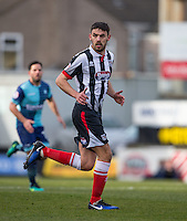 Shaun Pearson of Grimsby Town during the Sky Bet League 2 match between Grimsby Town and Wycombe Wanderers at Blundell Park, Cleethorpes, England on 4 March 2017. Photo by Andy Rowland / PRiME Media Images.