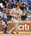 LYLE OVERBAY, of the Pittsburgh Pirates, in actions during the Pirates game against the Chicago Cubs at Wrigley FIeld on April 3, 2011.  The Pirates won the game beating the Cubs 5-4.