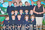 The junior infants class of 2008 at Ballyduff Central School  front l-r Kieran O'Carroll, Kevin O'Neill, Joshua Brosnan McCarthy, Sophie Cronin and Davina O' Connor.  Middle row l-r Thomas O' Connor, Tommie McDonagh, Conor Murphy, Patrick O'Brien and  Anthony O' Rourke Kavanagh.  Back row l-r Tara Kirby, Rebecca Falvey, Aaron McCabe, David Whyte, Martin Brosnan Mannix..   Copyright Kerry's Eye 2008