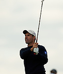 Padraig Harrington plays his approach chip to the 18th hole during the Barclays Scottish Open, played over the links at Castle Stuart, Inverness, Scotland from 7th to 10th July 2011:  Picture Stuart Adams /www.golffile.ie 7th  July 2011