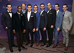 The male ensemble attend Broadway Opening Night After Party for 'Anastasia' at the Mariott Marquis Hotel on April 24, 2017 in New York City.