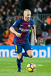 Andres Iniesta Lujan of FC Barcelona in action during the La Liga 2017-18 match between FC Barcelona and Deportivo Alaves at Camp Nou on 28 January 2018 in Barcelona, Spain. Photo by Vicens Gimenez / Power Sport Images