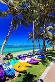 Activités nautiques, plage de l'Anse Vata, Nouméa, Nouvelle-Calédonie