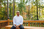 Christopher Evans, a former operations director at the chip design center at Georgia Tech, lost his job in what he considers collateral damage after a case against Joy Laskar. He poses for a portrait in the backyard of his home in Marietta, Georgia on October 29, 2013.