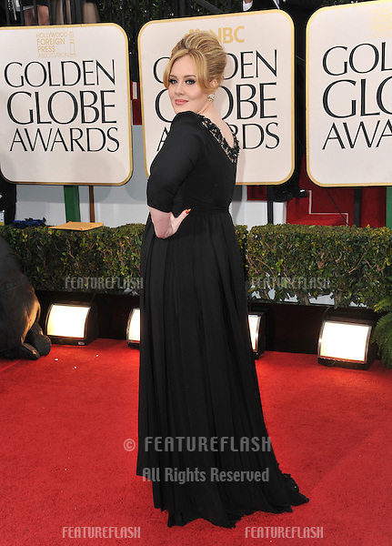 Adele at the 70th Golden Globe Awards at the Beverly Hilton Hotel..January 13, 2013  Beverly Hills, CA.Picture: Paul Smith / Featureflash