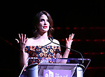 Cobie Smulders on stage at the 73rd Annual Theatre World Awards at The Imperial Theatre on June 5, 2017 in New York City.