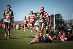 Counties Manukau Premier Club Rugby game between Karaka and Manurewa, played at Karaka, on Saturday June 14 2014. Karaka won the game 63- 24 after leading 32 - 10 at halftime  Photo by Richard Spranger