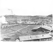 View of Pagosa Lumber Co. Mill at Pagosa Springs served by the Rio Grande, Pagosa and Northern Railroad.<br /> Rio Grande, Pagosa &amp; Northern  Pagosa Springs, CO  ca 1915