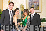 Pictured at the Gaelcholáiste Chiarraí Debs on Friday night in the Abbeygate hotel are, from left: Paul Butler, Cornelia Prenderville, Sarah Hayes and Daniel Finnegan.