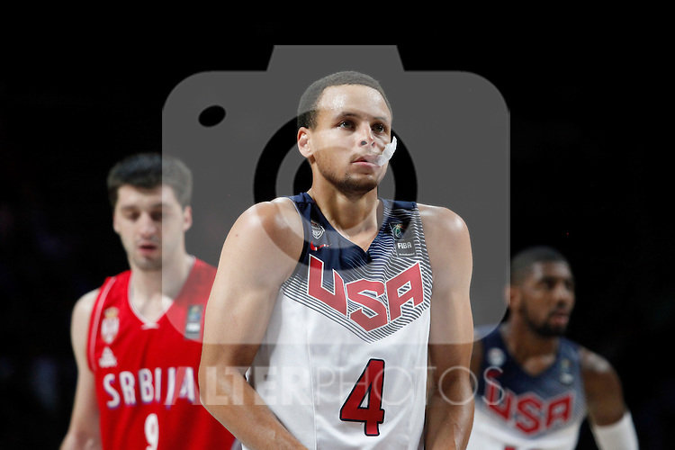 United States´s Curry (C) during FIBA Basketball World Cup Spain 2014 final match between United States and Serbia at `Palacio de los deportes´ stadium in Madrid, Spain. September 14, 2014. (ALTERPHOTOSVictor Blanco)