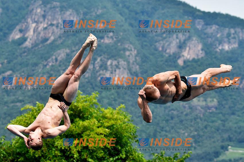 NOVOSELOV Viacheslav, NOVOSELOV Evgeny RUS <br /> Synchronised 3m Springboard Men Final - Trampolino Sincro 3m Uomini <br /> Bolzano 03-08-2014 <br /> 20 Fina Diving Grand Prix <br /> Photo Andrea Staccioli/Insidefoto