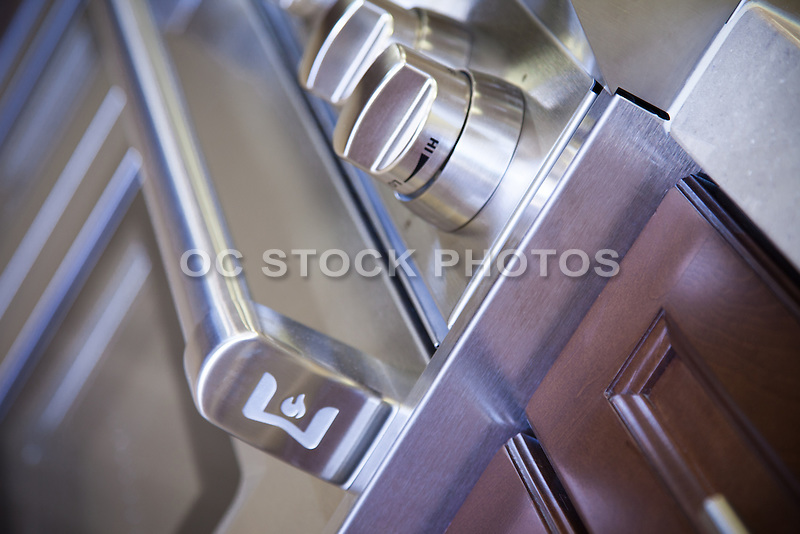 Detail Stock Photo of Stainless Steel Gas Range