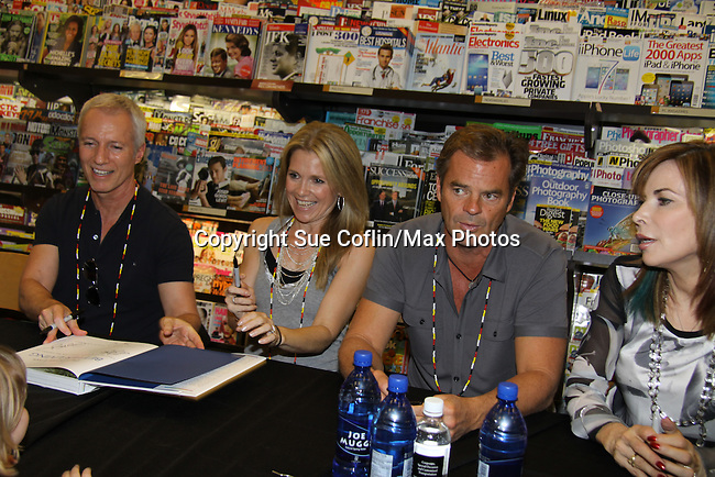"Days Of Our Lives - Greg Vaughan,  Lauren Koslow, Wally Kurth, Melissa Reeves meet the fans as they sign ""Days Of Our Lives Better Living"" on September 27, 2013 at Books-A-Million in Nashville, Tennessee. (Photo by Sue Coflin/Max Photos)"