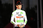 Tadej Pogacar (SLO) UAE Team Emirates wins the young riders White Jersey classification and also finishes 3rd overall at the end of the final Stage 21 of La Vuelta 2019 running 106.6km from Fuenlabrada to Madrid, Spain. 15th September 2019.<br /> Picture: Luis Angel Gomez/Photogomezsport | Cyclefile<br /> <br /> All photos usage must carry mandatory copyright credit (© Cyclefile | Luis Angel Gomez/Photogomezsport)