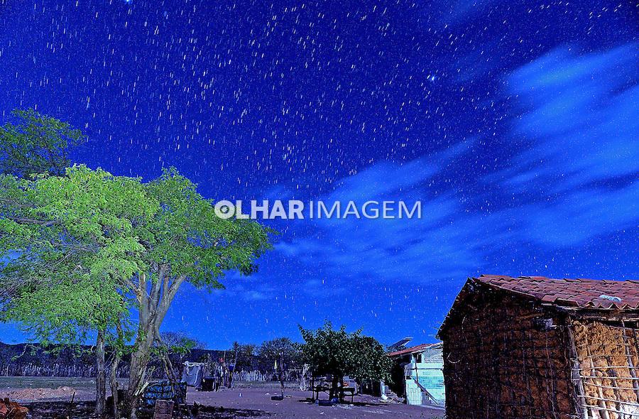 Noite estrelada no sertao em Remanso. Bahia. 2014. Foto de Joao Machado.