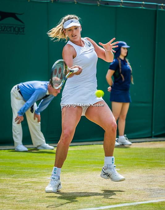 London, England, 10th July 2017. Tennis, Wimbledon. Coco Vanderwege (USA). Photo Henk Koster, Tennis Images.