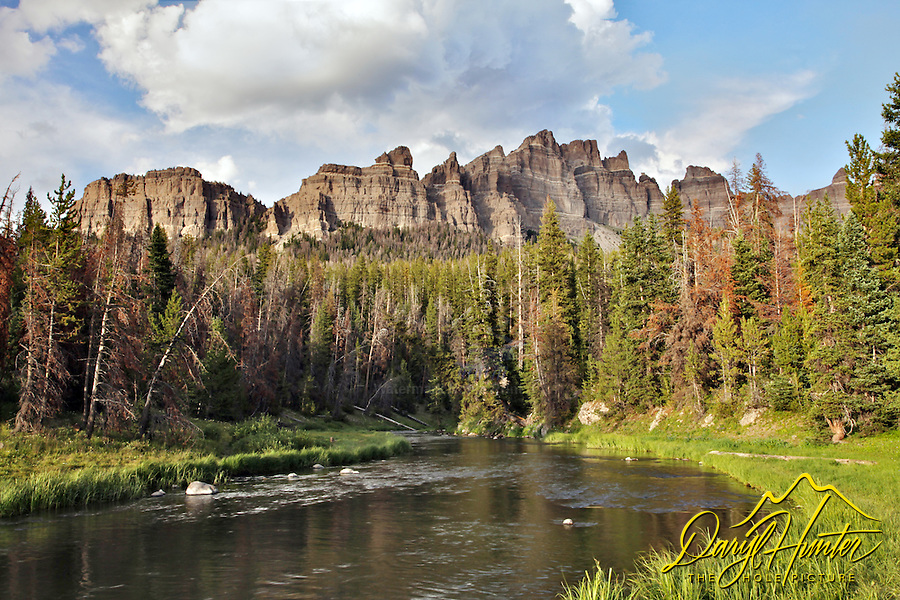 Brooks Lake Creek, Pinnacle Peak, Absaroka Mountains, Dubois, Wyoming,