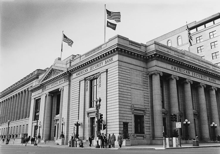 AmericanSecurity Bank main branch on Pennsylvania Avenue North West which is close to White House. (Photo by Maureen Keating/CQ Roll Call via Getty Images)
