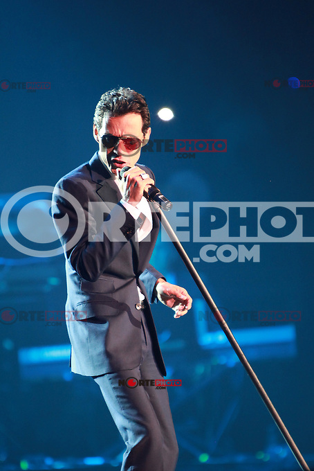 MIAMI, FL - AUGUST 3, 2012: Marc Anthony during the Gigant3s concert featuring, Marc Anthony, Chayanne and Marco Anotonio Solis at the American Airlines Arena in Miam, Florida. August 3, 2012. &copy;&nbsp;Majo Grossi/MediaPunch Inc. /NortePhoto.com<br />