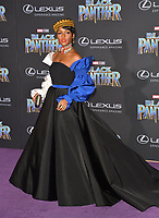 "Janelle Monae at the world premiere for ""Black Panther"" at the Dolby Theatre, Hollywood, USA 29 Jan. 2018<br /> Picture: Paul Smith/Featureflash/SilverHub 0208 004 5359 sales@silverhubmedia.com"