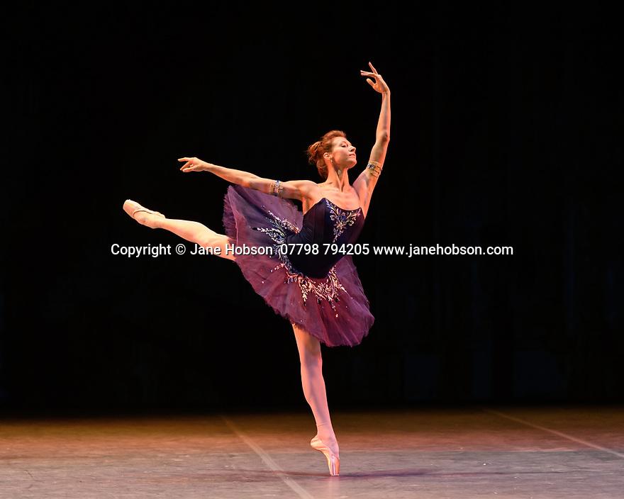 "Ekaterina Kondaurova rehearses ""Grand Pas Classique"", for the Ballet Icons Gala 2020, at the London Coliseum."