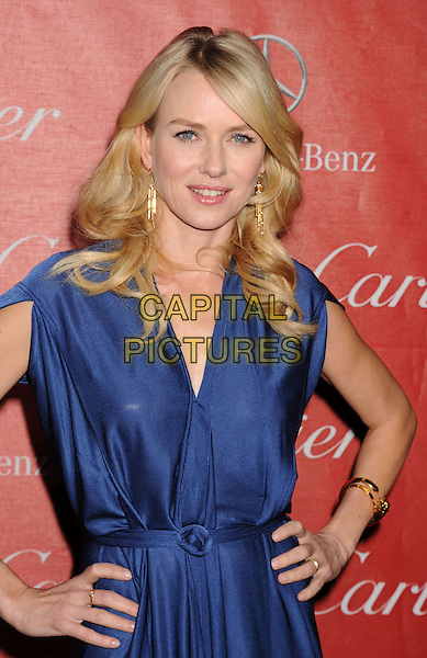 Naomi Watts.The 24th Annual Palm Springs International Film Festival Awards Gala at the Palm Springs Convention Center in Palm Springs, California, USA..January 5th, 2013.half length blue dress hands on hips.CAP/ROT/TM.©Tony Michaels/Roth Stock/Capital Pictures
