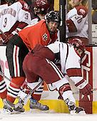 Jacques Perreault (NU - 9), Nick Coskren (Harvard - 6) - The Northeastern University Huskies defeated the Harvard University Crimson 3-1 in the Beanpot consolation game on Monday, February 12, 2007, at TD Banknorth Garden in Boston, Massachusetts.