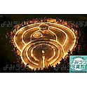 "January 16th, 2010 : Kobe, Japan - The 6434 candles are lighted up for commemorating 6434 victims of the January 17 earthquake at the park in Kobe, Japan. The theme of  the commemorative ceremony this year is ""warmth"" and it was designed like a mother holding a baby. (Photo by Shohei Izumi)"