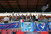 02.08.2015. Cologne, Germany. Pre Season Tournament. Colonial Cup. FC Porto versus Stoke City. Porto fans celebrate a fine 3-0 win.