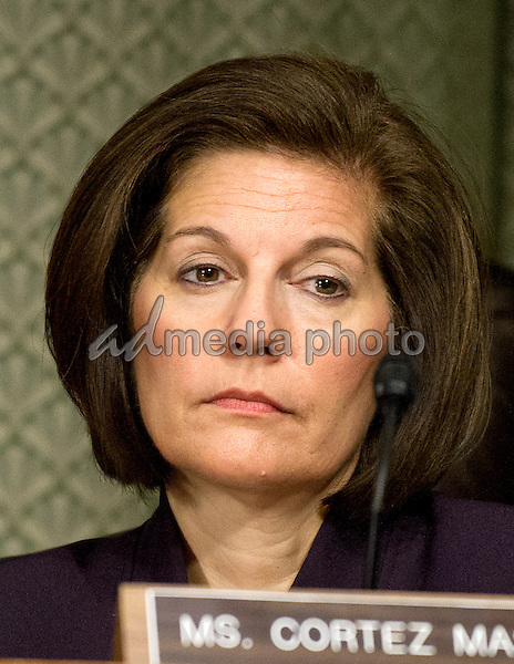 United States Senator Catherine Cortez Masto (Democrat of Nevada) listens as Janet L. Yellen, Chair, Board of Governors of the Federal Reserve System, testifies before the US Senate Committee on Banking, Housing, & Urban Affairs on ìThe Semiannual Monetary Policy Report to the Congressî on Capitol Hill in Washington, DC on Tuesday, February 14, 2017. Photo Credit: Ron Sachs/CNP/AdMedia