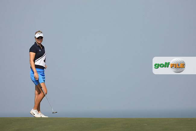 Nicole Broch Larsen (DEN) during the first round of the Fatima Bint Mubarak Ladies Open played at Saadiyat Beach Golf Club, Abu Dhabi, UAE. 10/01/2019<br /> Picture: Golffile | Phil Inglis<br /> <br /> All photo usage must carry mandatory copyright credit (&copy; Golffile | Phil Inglis)