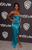 LOS ANGELES, CALIFORNIA - JANUARY 06: Aja Naomi King attends the Warner InStyle Golden Globes After Party at the Beverly Hilton Hotel on January 06, 2019 in Beverly Hills, California. <br /> CAP/MPI/IS<br /> &copy;IS/MPI/Capital Pictures