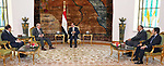 Egyptian President Abdel Fattah al-Sisi meets with Iyad Allawi, Vice-President of the Republic of Iraq, in Cairo, Egypt, on June 25, 2018. Photo by Egyptian President Office
