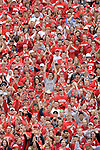 MADISON, WI - SEPTEMBER 9: Students of the Wisconsin Badgers cheer during the game against the Western Illinois Leathernecks at Camp Randall Stadium on September 9, 2006 in Madison, Wisconsin. The Badgers beat the Leathernecks 34-10. (Photo by David Stluka)