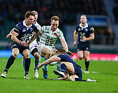 7th December 2017, Twickenham Stadium, London, England; The Mens Varsity Match, Cambridge versus Oxford;  Jake Hennessey of Cambridge challenges the Oxford defence