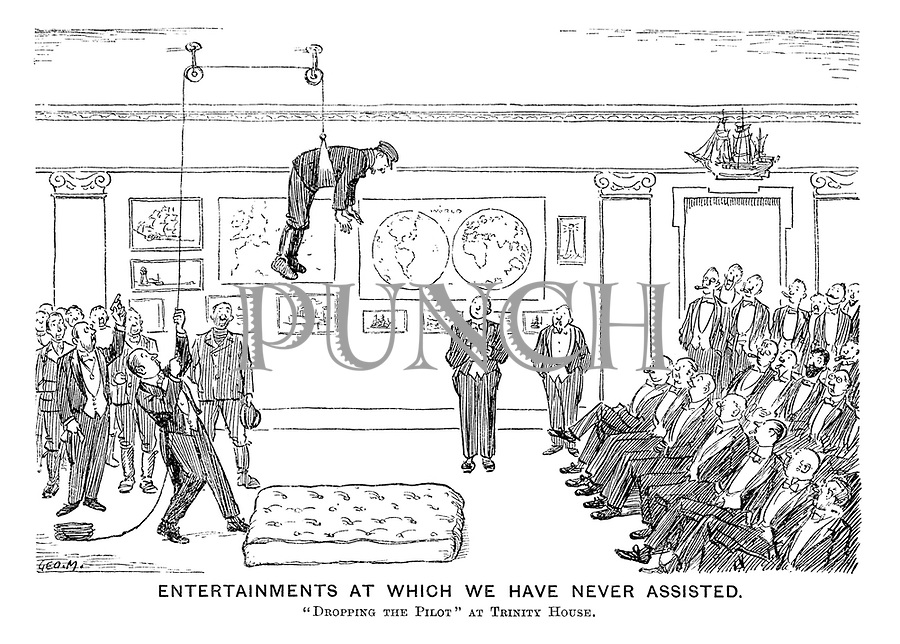 """Entertainments at Which We Have Never Assisted. """"Dropping the Pilot"""" at Trinity House."""