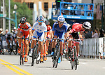 August 10, 2017 - Colorado Springs, Colorado, U.S. -  Racing tactics begin to heat up in men's pro cycling action during the opening stage of the inaugural Colorado Classic cycling race, Colorado Springs, Colorado.