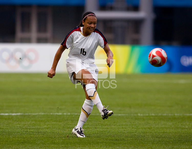 Angela Hucles. The US defeated Japan, 1-0, during the 2008 Beijing Olympics in Qinhuangdao, China.