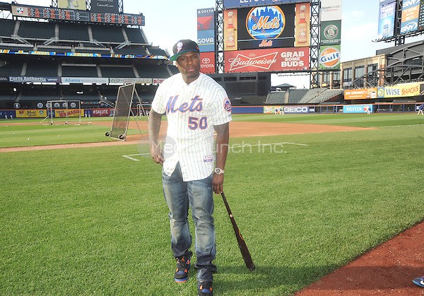 New York, NY- May 27:  Curtis &quot;50 Cent&quot; Jackson visits Citi Field on May 27, 2014 in support of his upcoming post-game concert at Citi-Field in Flushing, New York. <br /> Credit: John Palmer/MediaPunch