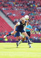 July 25, 2012..Rachel Buehler (16), USA vs France Football match during 2012 Olympic Games at Hampden Park in Glasgow, England. USA defeat France 4-2 after conceding two goals in the first half of the match...(Credit Image: © Mo Khursheed/TFV Media)