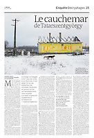 French daily Le Monde<br /> January 4, 2011<br /> Photographer: Martin Fejer